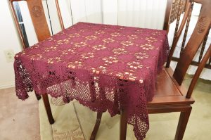 crochet 36 inches square, crochet square tablecloths
