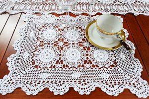 crochet placemats, crochet white placemats