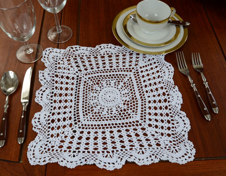 Granny Square Crochet placemat