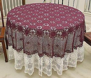 crochet round tablecloths, crochet round 72 in.