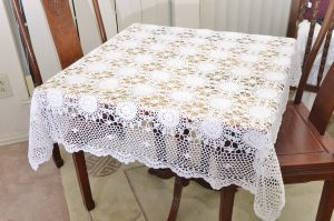 crochet square tablecloths
