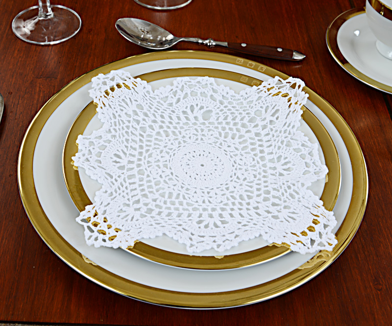 Grannyy square crochet doily, crochet doily 8 in., crochet square doily 8 in.