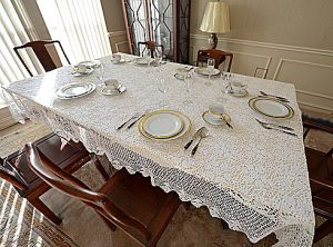 crcoeht tablecloths, crochet alce tablecloths