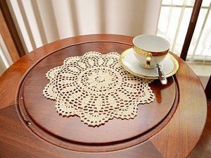 crochet round doilies ecru color
