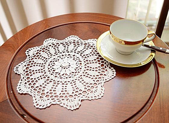 "Round Crochet Doilies. 10""Round Crochet.White color"