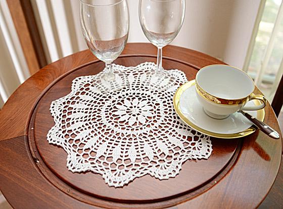 "Round Crochet Doilies. 14"" Round. White Crochet"
