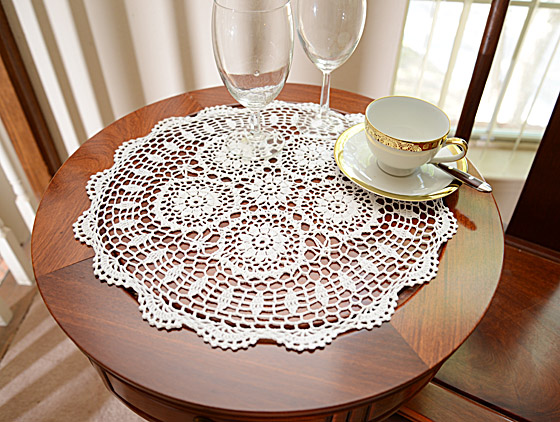 """Round Crochet Doilies, Crochet Toppers. 18"""" Round"""