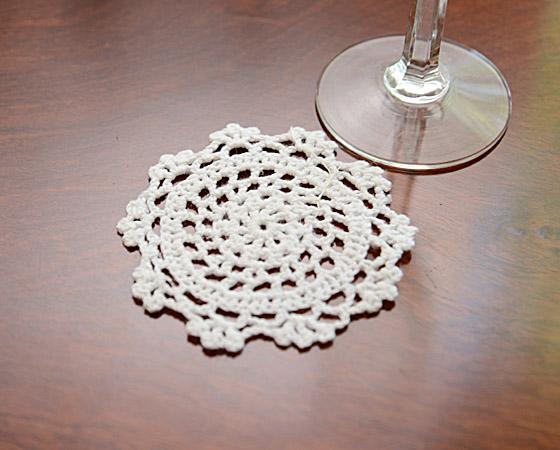 "Round Crochet Doilies 4""x4"""