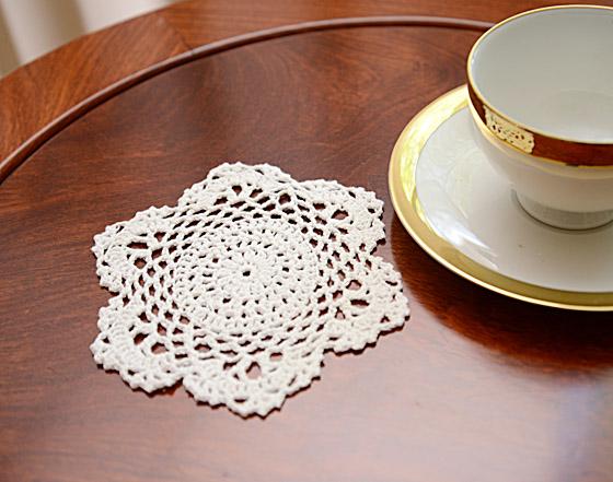 """Round Crochet Doilies 6""""x6"""" Wheat Color"""
