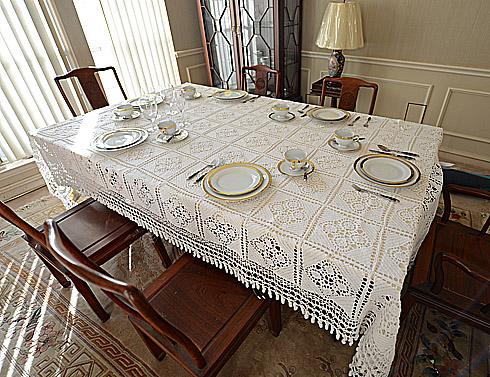 granny square crochet tablecloth