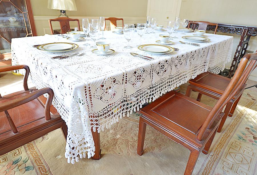 Granny Square tablecloth, crochet Granny Square