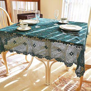 Festive Crochet Square Tablecloths