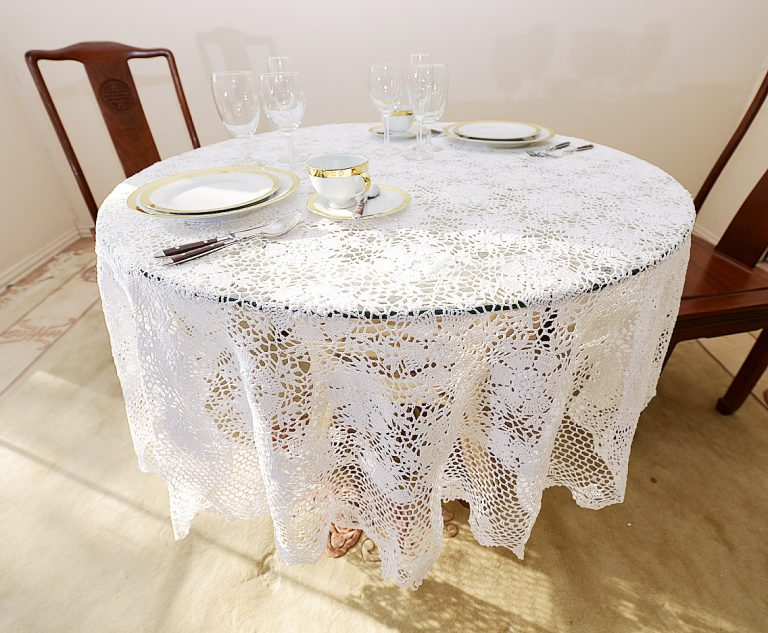90 round crochet tablecloths.