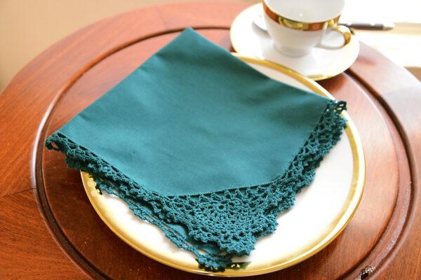 cotton napkin crochet edges