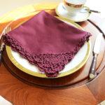 Crochet Napkin Merlot Color