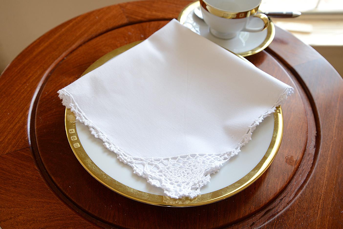 crochet napkin, white crochet napkin